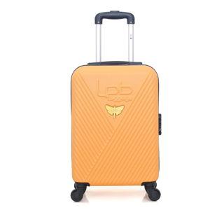 Pomarańczowa walizka z 4 kółkami LPB Francis, 31 l