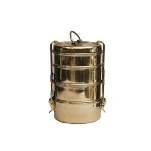Pojemnik obiadowy w złotej barwie Bahne & CO