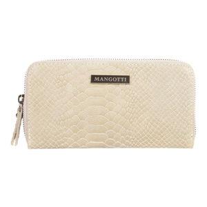 Kremowy portfel skórzany Mangotti Bags Zuna