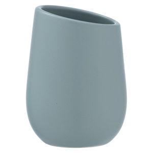 Niebieski ceramiczny kubek na szczoteczki do zębów Wenko Badi