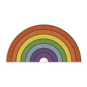 Korkowa tablica ścienna w kształcie tęczy Really Nice Things Rainbow, 70x50 cm