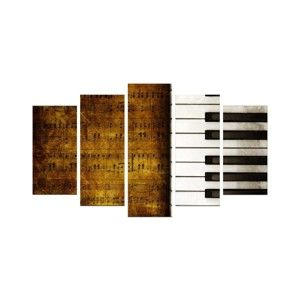 Obraz wieloczęściowy Piano, 110x60 cm