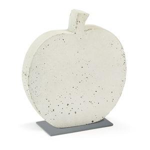 Biała dekoracja z cementu La Forma Sens Apple, 28x30 cm