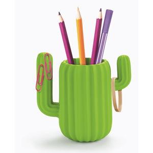 Zielony stojak na ołówki Just Mustard Cactus