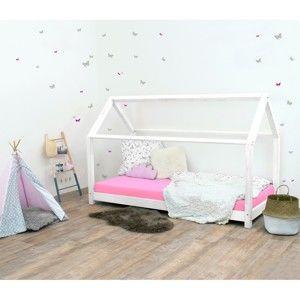 Białe łóżko dziecięce z drewna świerkowego Benlemi Tery, 120x190 cm