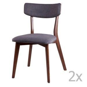 Zestaw 2 ciemnoszarych krzeseł sømcasa Lin
