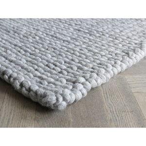 Piaskowobrązowy pleciony dywan wełniany Wooldot Ball Rugs, 170x240 cm