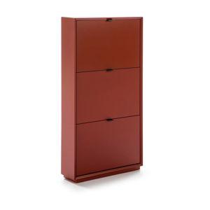 Czerwona szafka na buty z 3 szufladami Marckeric Luka