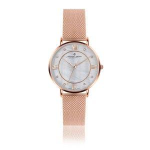 Zegarek damski z paskiem w kolorze różowego złota Frederic Graff Rose Liskamm Rose Gold Mesh