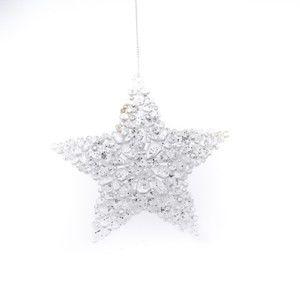 Świąteczna dekoracja wisząca w kształcie gwiazdy Dakls Edith