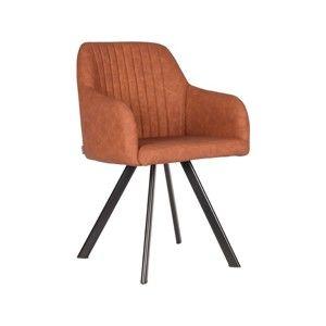 Karmelowobrązowe krzesło do jadalni LABEL51 Floor