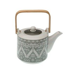 Porcelanowy dzbanek do herbaty z sitkiem VERSA Ornament