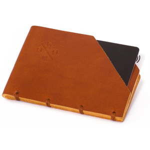 Karmelowy portfel skórzany Woox Minor Dilutus