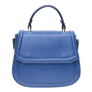 Niebieska skórzana torebka z paskiem Isabella Rhea