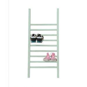 Drabinka do odkładania butów Linen Couture Escalera S Aquamarine, wys. 90 cm