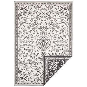 Czarno-kremowy dywan odpowiedni na zewnątrz Bougari Leyte, 120x170 cm