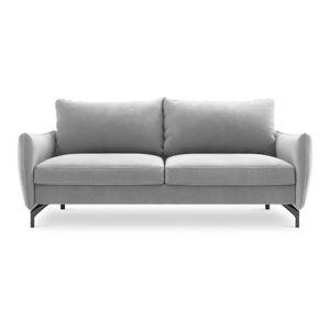 Jasnoszara sofa rozkładana z aksamitnym obiciem Interieurs 86 Stendhal