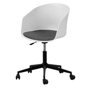 Białe krzesło biurowe na kółkach Interstil MOON