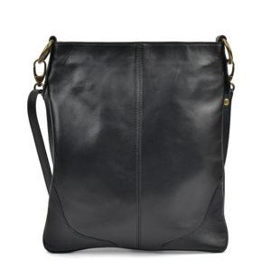 Czarna torebka skórzana Mangotti Bags Luro
