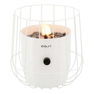 Biała lampa gazowa Cosi Basket, wys. 31 cm
