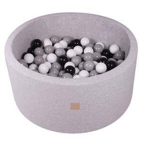 Szary basen dla dzieci z 300 piłkami MeowBaby Dark, ø 90x40 cm
