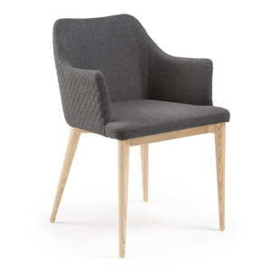 Ciemnoszare krzesło do jadalni La Forma Danai