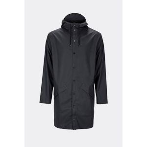 Czarna kurtka unisex o wysokiej wodoodporności Rains Long Jacket, rozm. XS/S