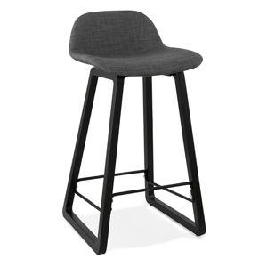 Czarny stołek Kokoon Trapu Mini I, wys. siedziska 72 cm