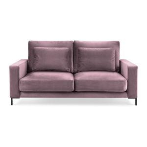 Różowa sofa z askamitnym obiciem Interieurs 86 Seine, 158 cm
