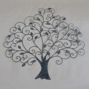 Brązowe metalowe wiszące drzewo dekoracyjne Dakls Tree