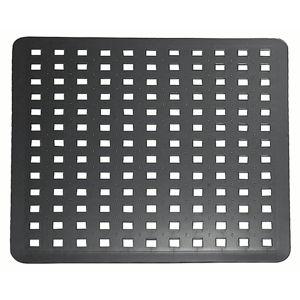 Czarna mata do zlewu iDesign, 28x32 cm