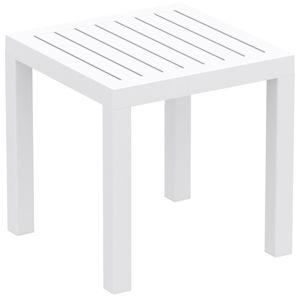 Biały stolik ogrodowy Resol Ocean, 45x45 cm