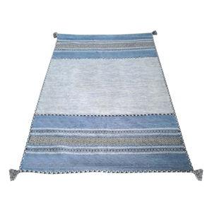 Niebiesko-szary bawełniany dywan Webtappeti Antique Kilim, 160x230 cm