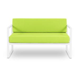 Limonkowozielona 2-osobowa sofa ogrodowa Calme Jardin Nicea