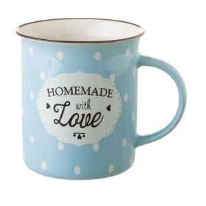 Niebieski kubek porcelanowy Unimasa Homemade, 320ml