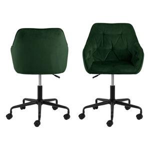 Zielone krzesło biurowe z aksamitną powierzchnią Actona Brooke