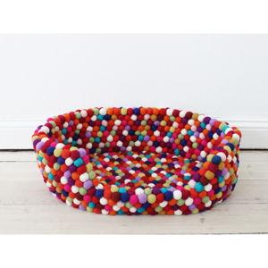 Ciemnoczerwone kulkowe wełniane legowisko dla zwierząt Wooldot Ball Pet Basket, 60x40 cm