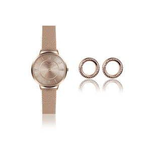 Komplet damskiego zegarka i kolczyków Victoria Walls Layla