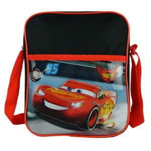 Czerwono-czarna dziecięca torba z paskiem na ramię Bagtrotter Cars