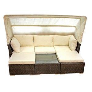 Sofa ogrodowa z zadaszeniem i stolikiem ADDU Santiago