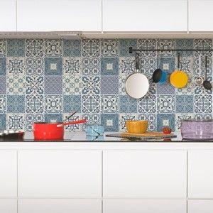 Zestaw 60 dekoracyjnych naklejek ściennych Ambiance Nazzareno, 10x10 cm