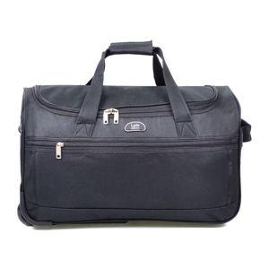 Czarna torba podróżna na kółkach LPB Morgane, 43 l