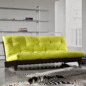 Sofa rozkładana Karup Fresh Wenge/Pistacie