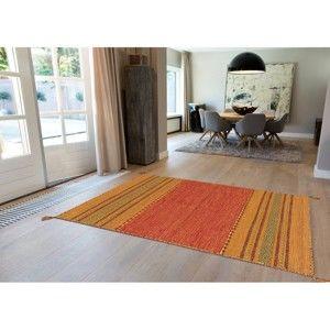 Bawełniany ręcznie wykonany dywan Arte Espina Navarro 2918 Terra, 60x90cm
