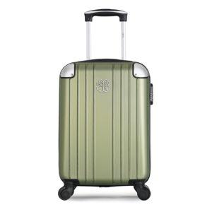 Jasnozielona walizka fakturowana z 4 kółkami LPB Amelie, 31 l