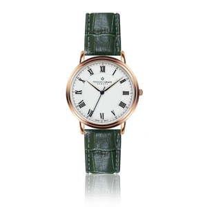 Męski zegarek z ciemnozielonym paskiem ze skóry naturalnej Frederic Graff Monch