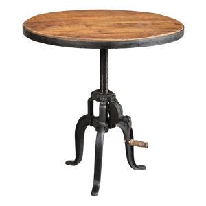 Stolik z drewna mango Antic Line Avec, ø 70 cm