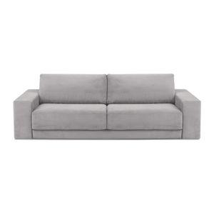 Jasnoszara 4-osobowa sofa rozkładana Milo Casa Donatella