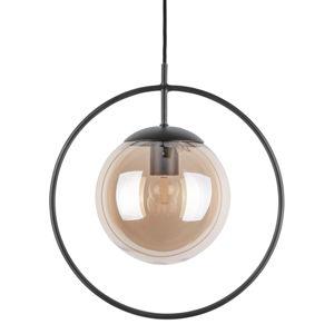 Brązowo-czarna lampa wisząca Leitmotiv Round, wys. 38 cm