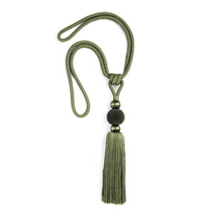 Zielony dekoracyjny sznur do zasłon Velvet Atelier